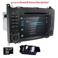 7 AutoRadio Car Multimedia Player For Mercedes/Benz/Sprinter/B200/B class/Vito/Viano W245/B170/W209/W169 2Din DVD GPS Navi SWC