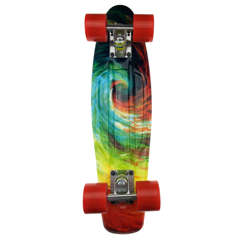 1PC Freestyle Cool 22 Inches Four-wheel Street Long Skate Board Mini Cruiser Skateboard Deck Longboard Wheels Waveboard Colorful - 3