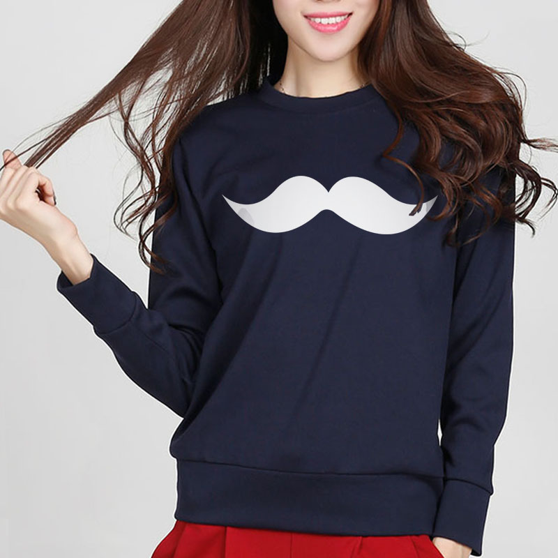 Moustache Print Sweatshirts