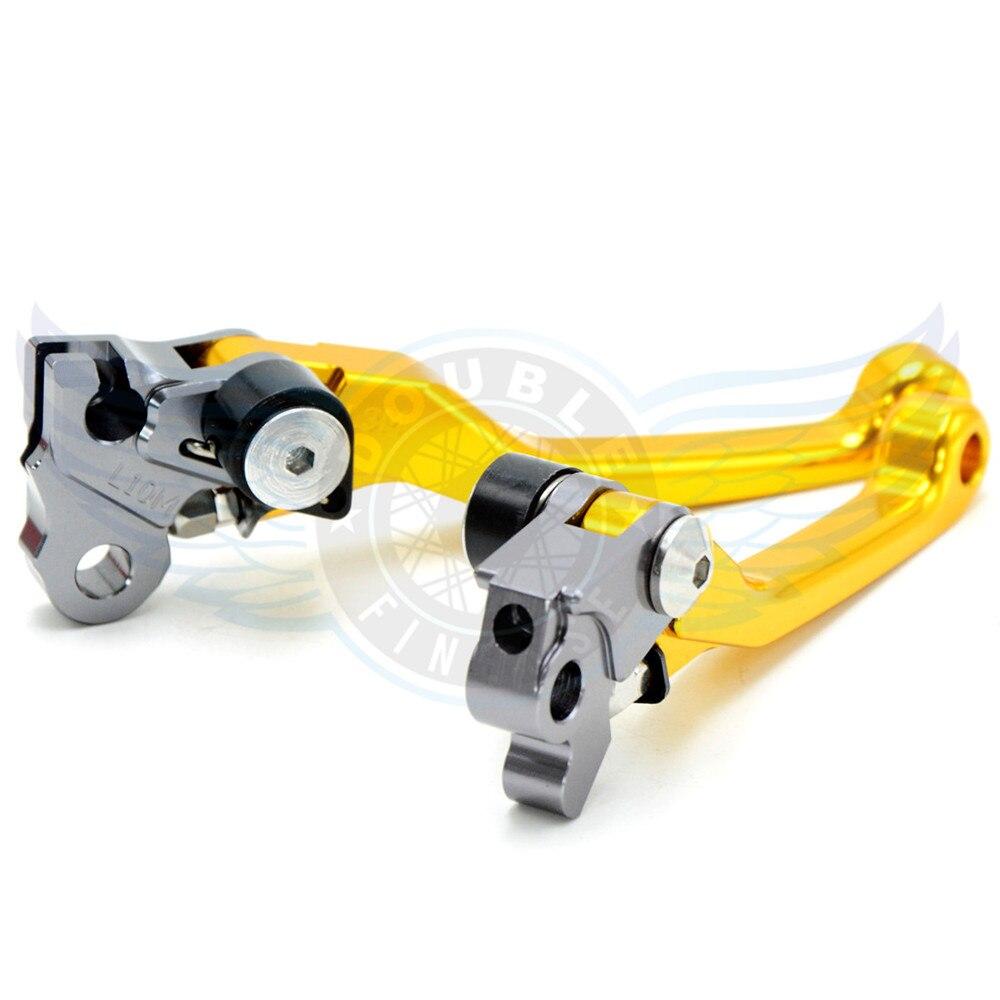 ФОТО motorcycle Pivot Brake Clutch Levers CNC  golden For Yamaha TTR250  93 94 95 96 97 98 99 00 01 02 03 04 05 06 07 08 09 10 11