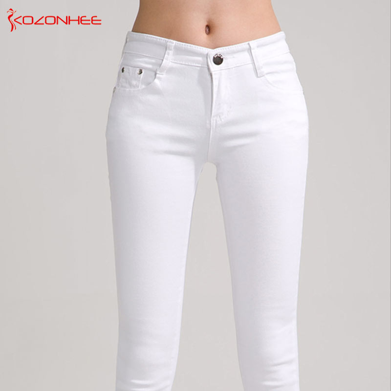 Multiplex Colour stretching Skinny   Jeans   Mid Waist Women Elastic Push Up Pencil   Jeans   Trousers For Women   Jeans   For Girls Opaque