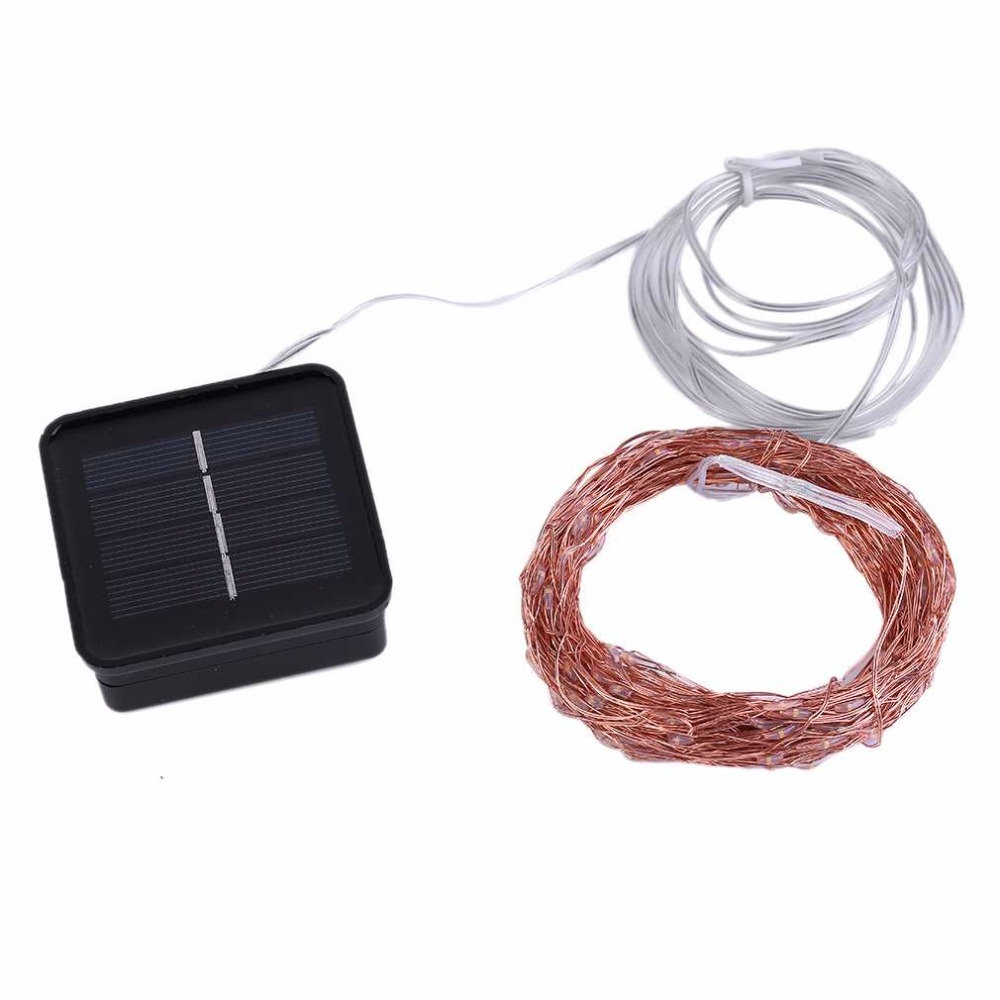 15M 150LED Solar Powered Indoor Outdoor Warm White Copper Wire Outdoor String Fairy Light with 2 Lighting Modes