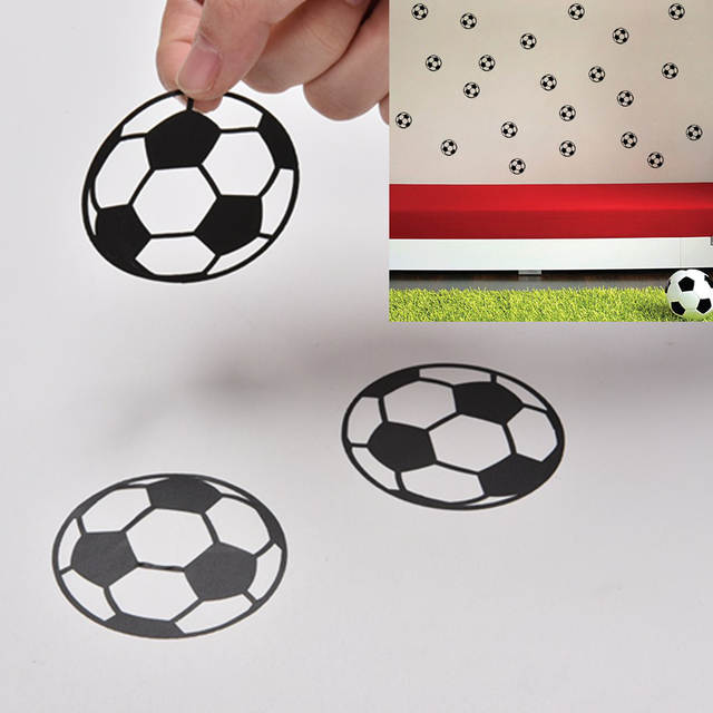 20pcs Set Personalized Football Soccer Ball Wall Sticker Sports Boys Bedroom Art Vinyl For Kids Rooms Nursery Decor