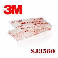 Free Shipping 25.4mmx45.7m 3M SJ3560 Clear Dual Lock self adhesive tape Type 250 3M Dual LOCK
