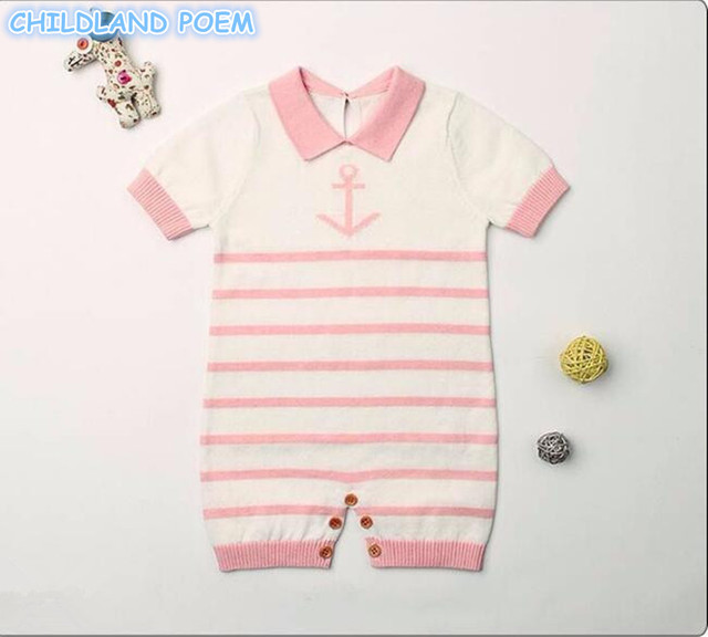 0b0509ef5 Baby Knitted Romper Baby Girl Sailor Romper Stripe Woolen Newborn ...