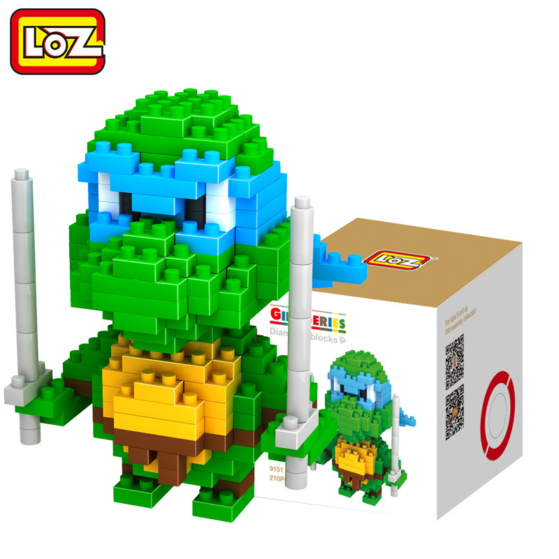 LOZ <font><b>Leonardo</b></font> <font><b>Da</b></font> <font><b>Vinci</b></font> Building Blocks <font><b>Action</b></font> <font><b>Figure</b></font> Building Bricks Gift Kids DIY Toys brinquedos educativo menino juguetes
