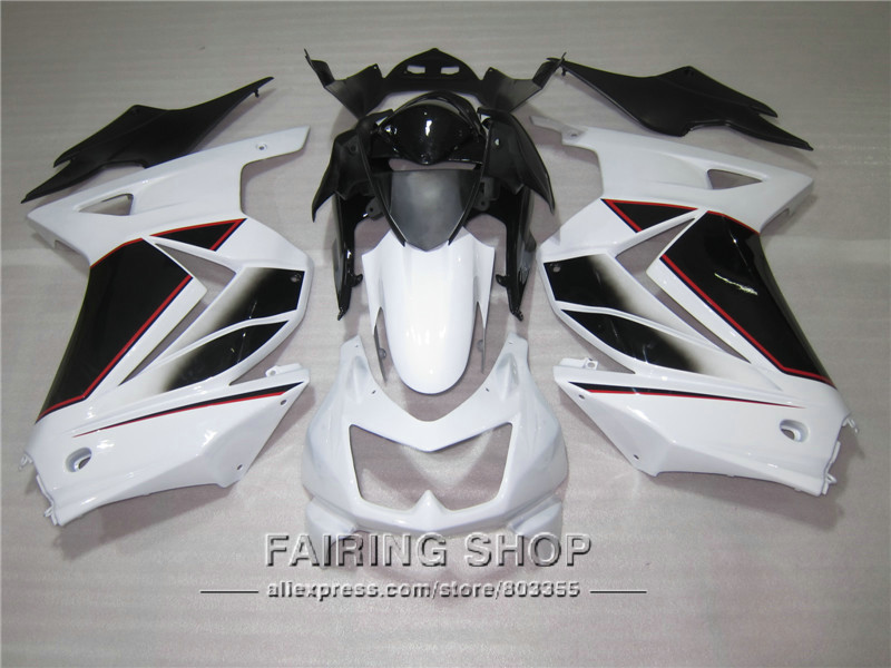 White For Kawasaki Ninja 250r 2012 2009 fairings 2013 2008 2011 2010 2014 Fairing kit 08 09 10 11 12 13 14 S47