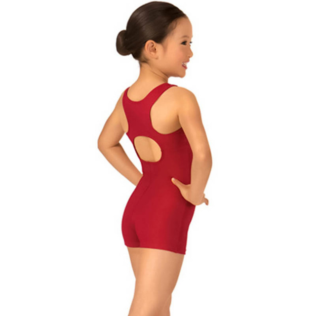 a7105284620a Kid Leotard Dance Clothes For Girl Back Hollow Out Lycra Sleeveless ...