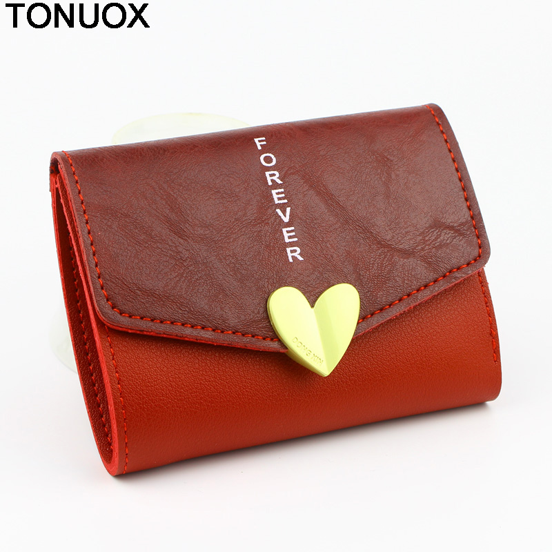 Women Short Wallets Lady Purses Clutch Coin Purse Soft Leather Woman Heart Wallet Card ID Holders Notecase Money Bags Burses new arrival 2017 wallet long vintage man wallets soft leather purse clutch designer card holders business handbags clips