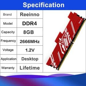 Image 3 - Reeinno RGB RAM DDR4 8GB Tần Số 2666MHz 1.2V 288pin PC4 19200 CL = 19 19 19  43 Cho Máy Tính Game RAM Bảo Hành Trọn Đời Máy Tính Để Bàn Bộ Nhớ