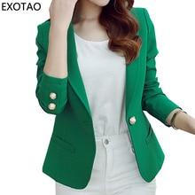 EXOTAO Women's New Casacos Fashion Mini Jackets