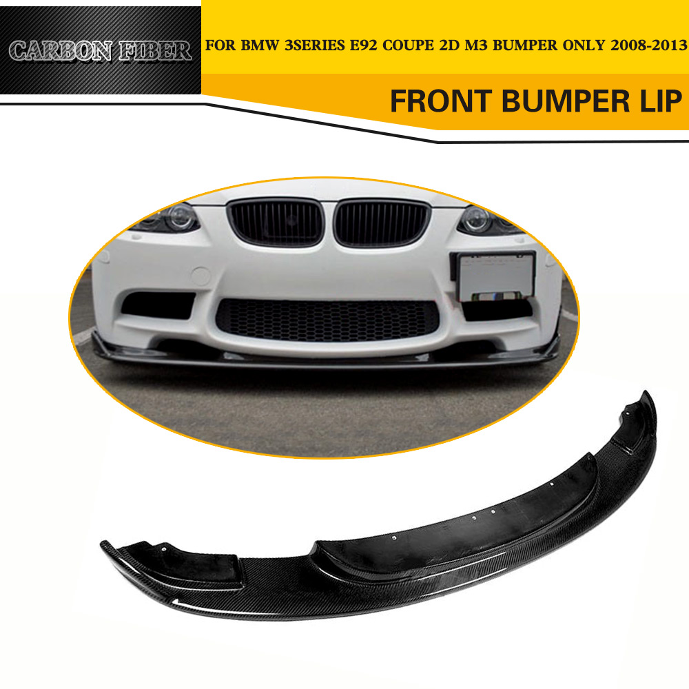 Carbon Fiber Car Front Bumper Lip for BMW 3 Series E92 M3 Coupe Bumper 2009-2011 olotdi carbon fiber front lip spoiler gts style front bumper for bmw e92 e93 m3 bumper car styling accessories factory