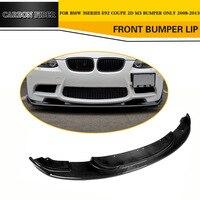Carbon Fiber Car Front Bumper Lip for BMW 3 Series E92 M3 Coupe Bumper 2009 2011