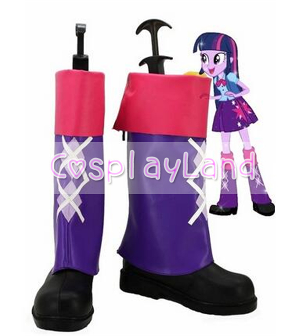 Mon petit poney arc-en-ciel roches crépuscule étincelle Cosplay bottes chaussures Anime fête Cosplay bottes sur mesure pour les femmes adultes chaussures