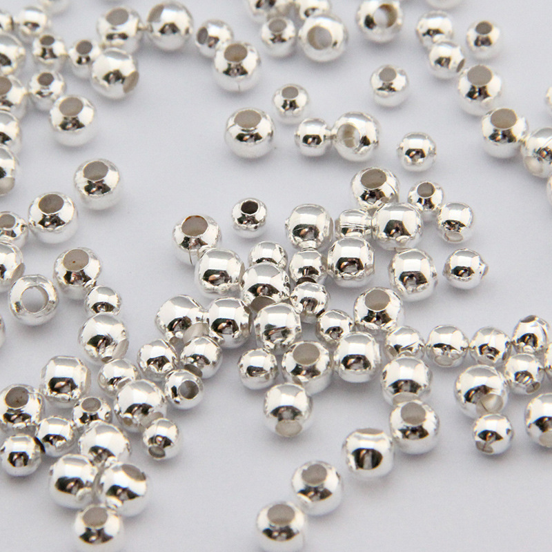 Inventive Aclovex 200pcs Metal Iron 2/3/4/5/6/8mm Spacer Beads Silver Color Round Loose Big Hole Beads For Diy Jewelry Making Findings Products Hot Sale Beads