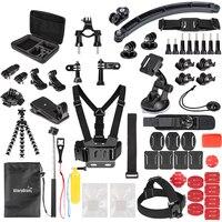 GloryStar Sports Action Camera Accessory Kit for GoPro Hero6 5 Black, Hero 5,4,3,2,1 APEMAN,SJCAM for Xiaomi Yi Xiao mi Yi2 4K