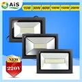 Ультратонкий LED Прожектор 15 Вт 30 Вт 60 Вт 100 Вт 150 Вт 200 Вт Черный AC170-260V Водонепроницаемый IP65 прожектор Прожектор Наружного Освещения