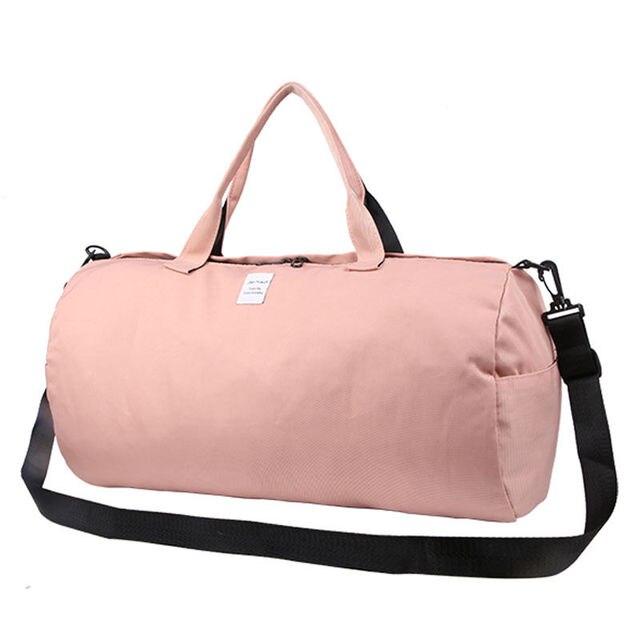 e15fb249de0c Canvas Shoulder Sports Gym Bag for Women Fitness Yoga Training Bags Candy  Color Travel Handbags Sac