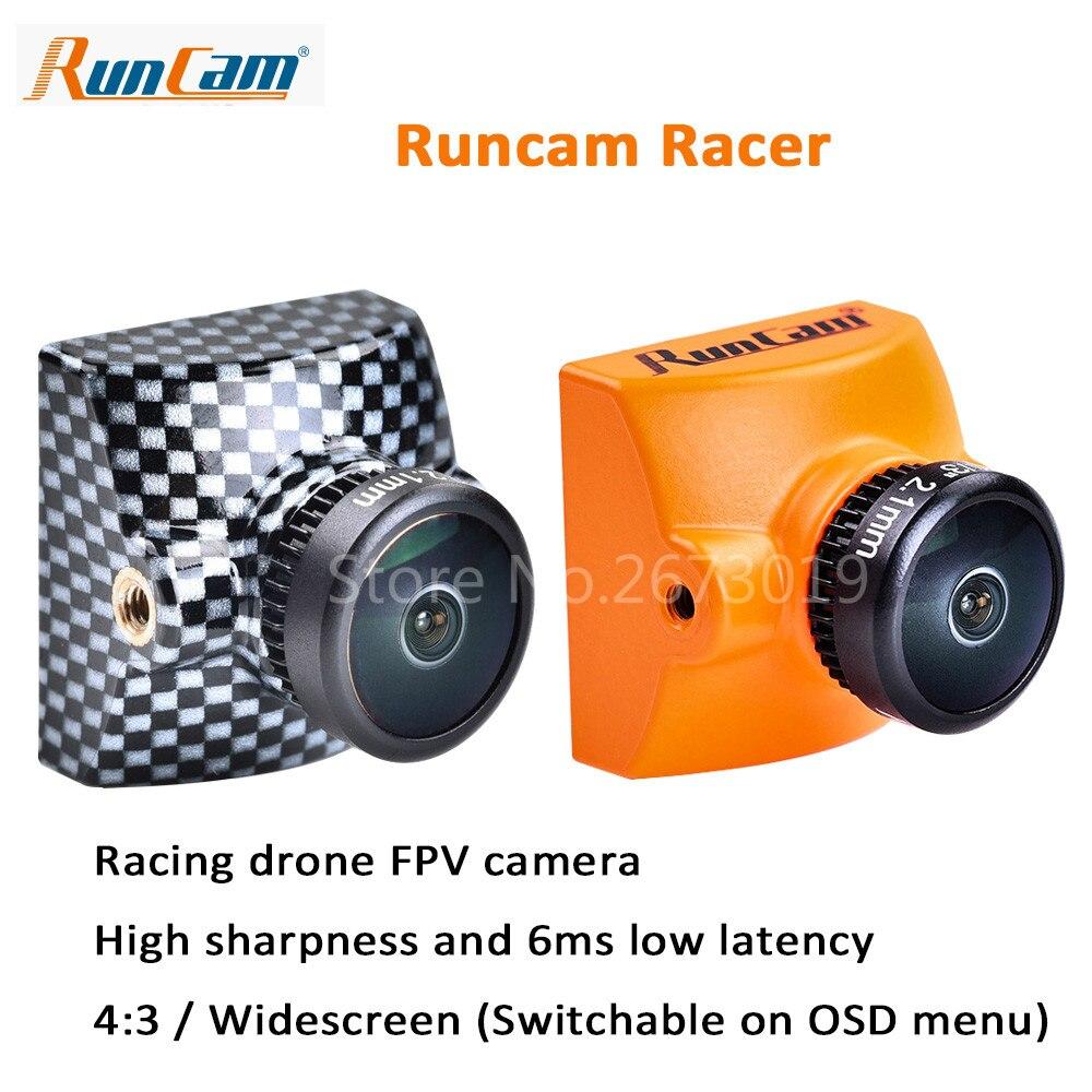 New RunCam Racer FPV Camera 700TVL Super WDR CMOS Sensor 2.1mm M8 Lens Integrated OSD NTSC/PAL DC5-36V for FPV Racing Drone aomway 700tvl hd 1 3 cmos fpv camera pal