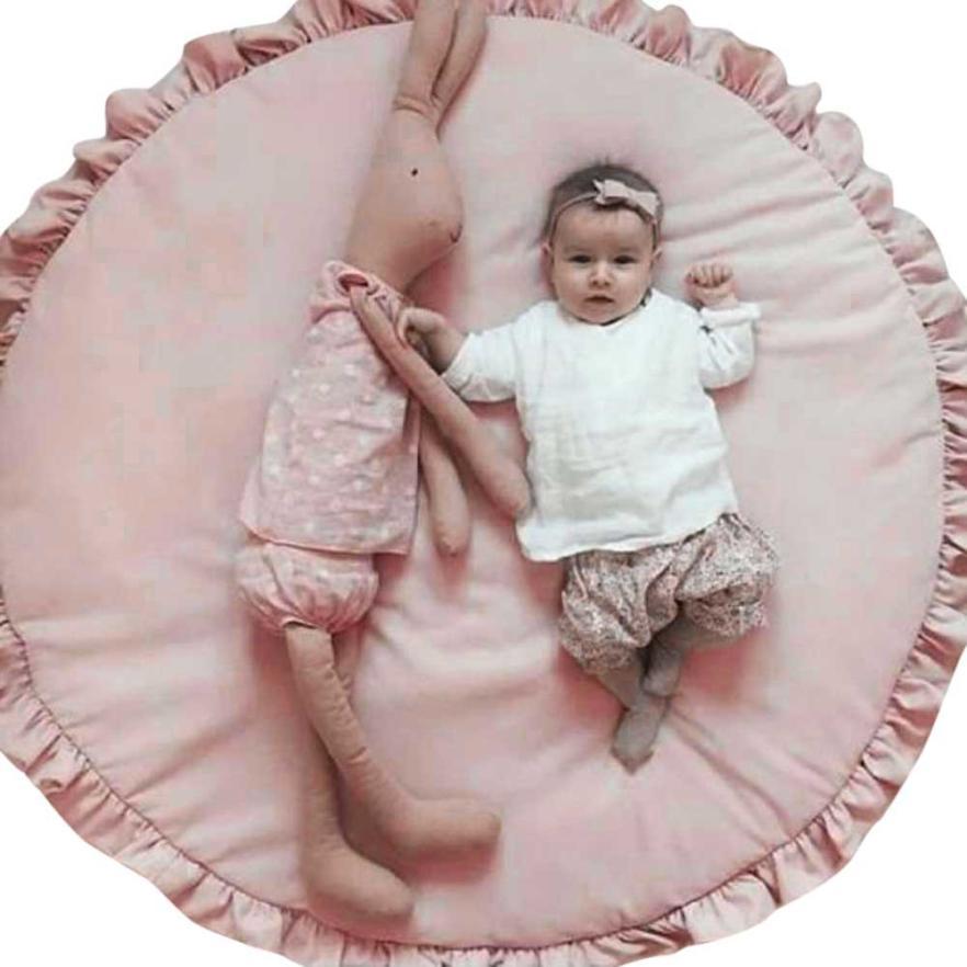 Baby blanket cotton play mats Soft baby games carpet newborn print bear Infantil Bedding toy Kids Gift 94cm Creeping Mat Blanket