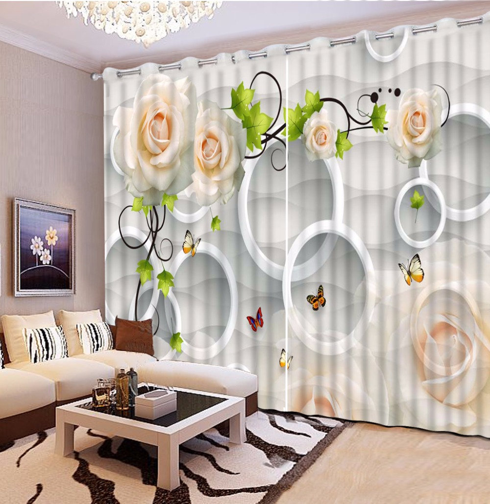 High Quality Window Curtain Photo circle Rose Blackout 3D Curtains Living Room Bedroom Printing Kitchen CurtainsHigh Quality Window Curtain Photo circle Rose Blackout 3D Curtains Living Room Bedroom Printing Kitchen Curtains