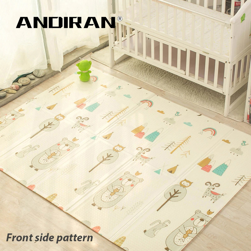 Tapis de jeu pour enfants pliant Puzzle tapis de jeu tapis de jeu pour nourrissons 200*150*1 cm mousse tapis rampant Pack et matelas de jeu