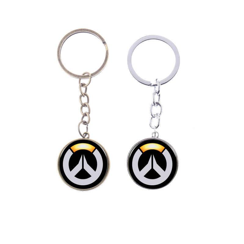 SONGDA FPS игры минимализм логотип Overwatch брелок Классический OW знак металлический подвесной брелок плеер вентиляторы брелок для ключей брелок