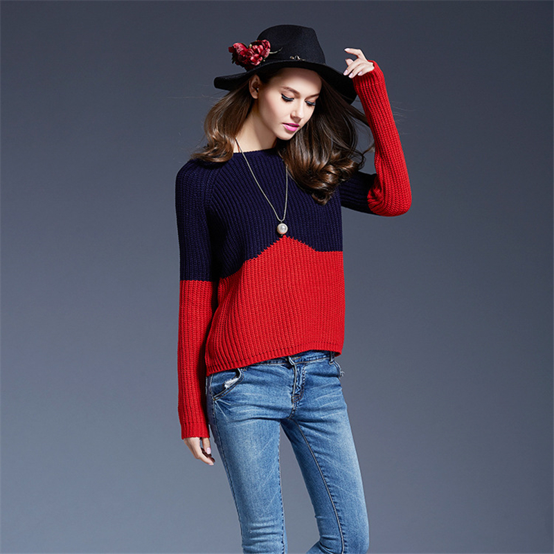 Winter Women Sweaters Pullovers Long Sleeve Knitted Christmas Sweater Female Winter V Neck Sueter Mujer Pull Femme