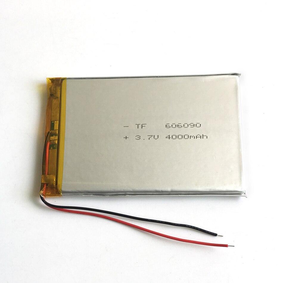 3.7 V 4000 mAh 606090 Polimeri di Litio Li-Po Batteria Ricaricabile Per PSP  GPS DVD PAD e-book tablet pc videogioco banca di potere faa327af472