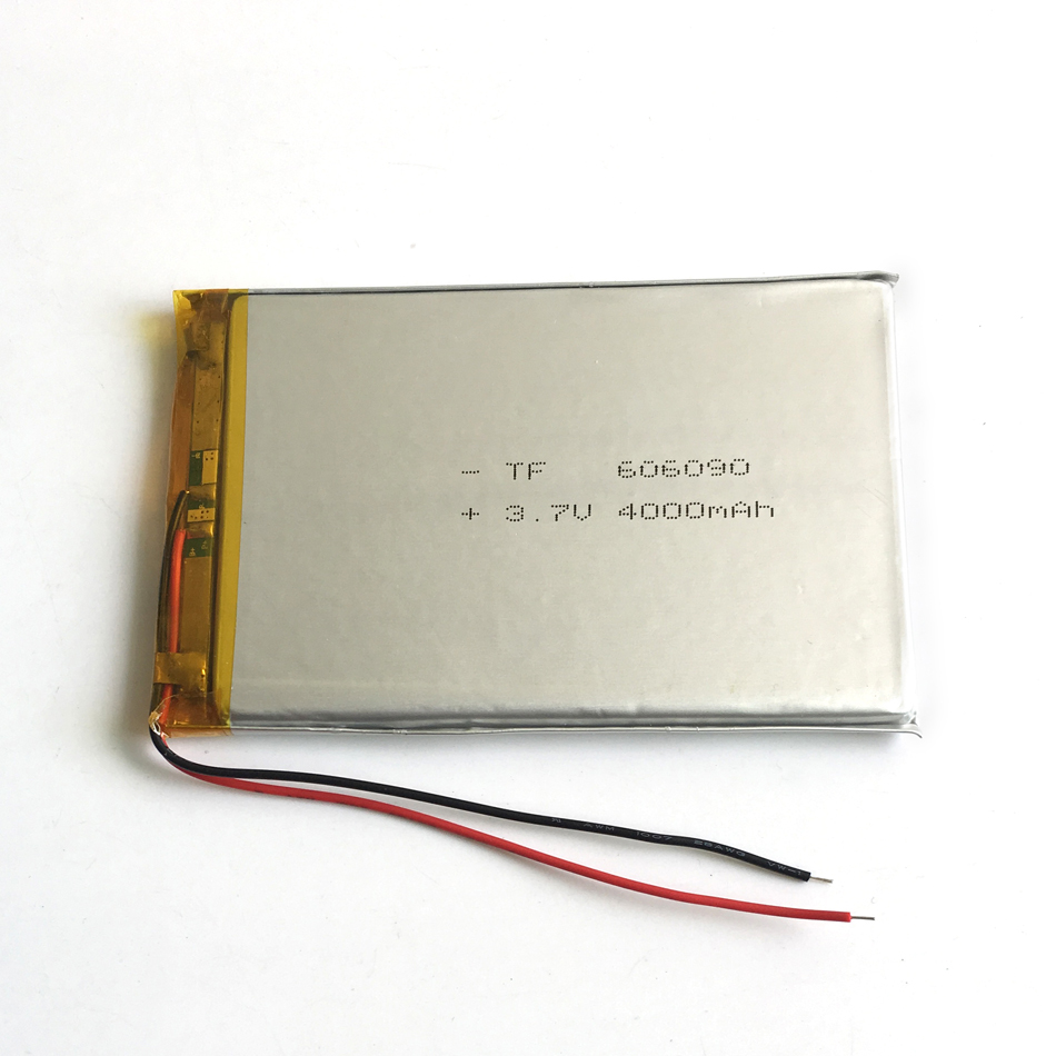 3.7 V 4000 mAh 606090 Polymère Au Lithium Li-po Batterie Rechargeable Pour PSP GPS DVD PAD e-book tablette pc puissance banque vidéo jeu