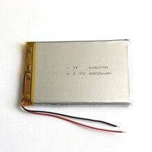 3.7 В 4000 мАч 606090 Литий-Полимерный Li-Po Аккумулятор Для GPS PSP DVD PAD электронная книга планшетный пк банк силы видеоигры