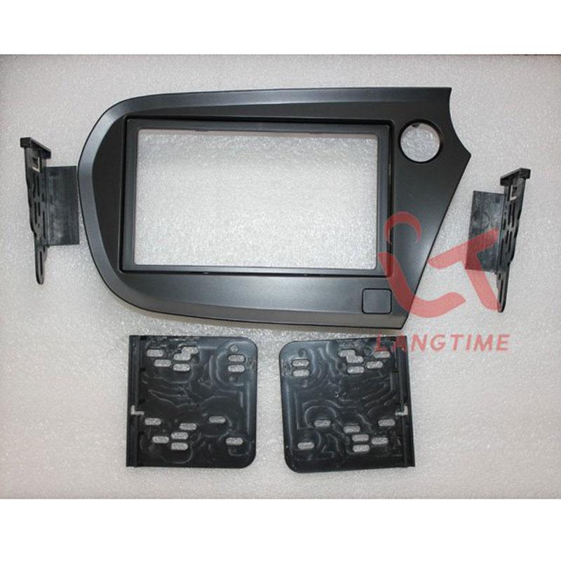 Free shipping-Car refitting DVD frame,DVD panel,Dash Kit,Fascia,Radio Frame,Audio frame for 09 Honda Insight(right hand),2DIN