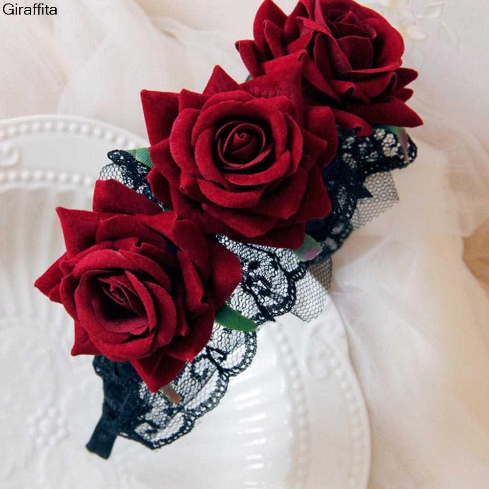 Повязки На Голову Хэллоуин дворца черный кружево Готическая Лолита ведьма Очаровательная мама широкая головная повязка Косплей ювелирные изделия Головные уборы
