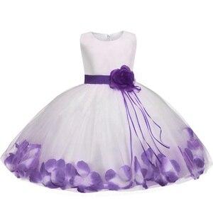 Kwiat płatek dziewczynka suknia ślubna dla nowożeńców sukienka noworodka maluch dziecko dziewczyna 1 rok suknie urodzinowe tiul sukienka dla niemowląt dla dzieci odzież dla 2 T
