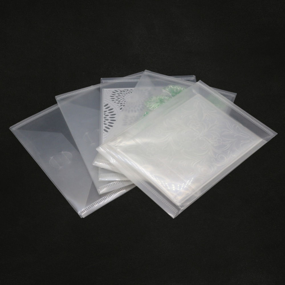 5pcs/set Clear Metal Cutting Dies Bags for DIY Scrapbooking photo album Decorative Embossing Paper card new stamps and dies bags(China)