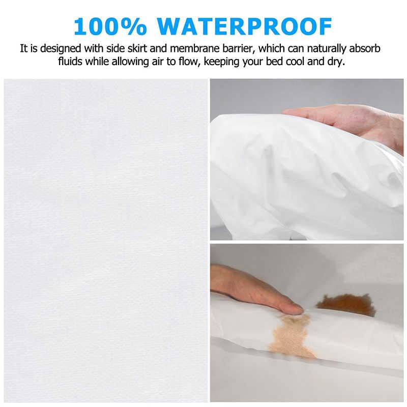 140X200 cm fajne oddychające materac wodoodporny pokrywa dla materac sprężynowy Protector anty roztocza pokrywa dla podkład na materac nadający się do prania