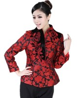 Free shippping chinese traditional woman top floral blouse chinese traditional hanfu chinese clothing for women 2 color 2321