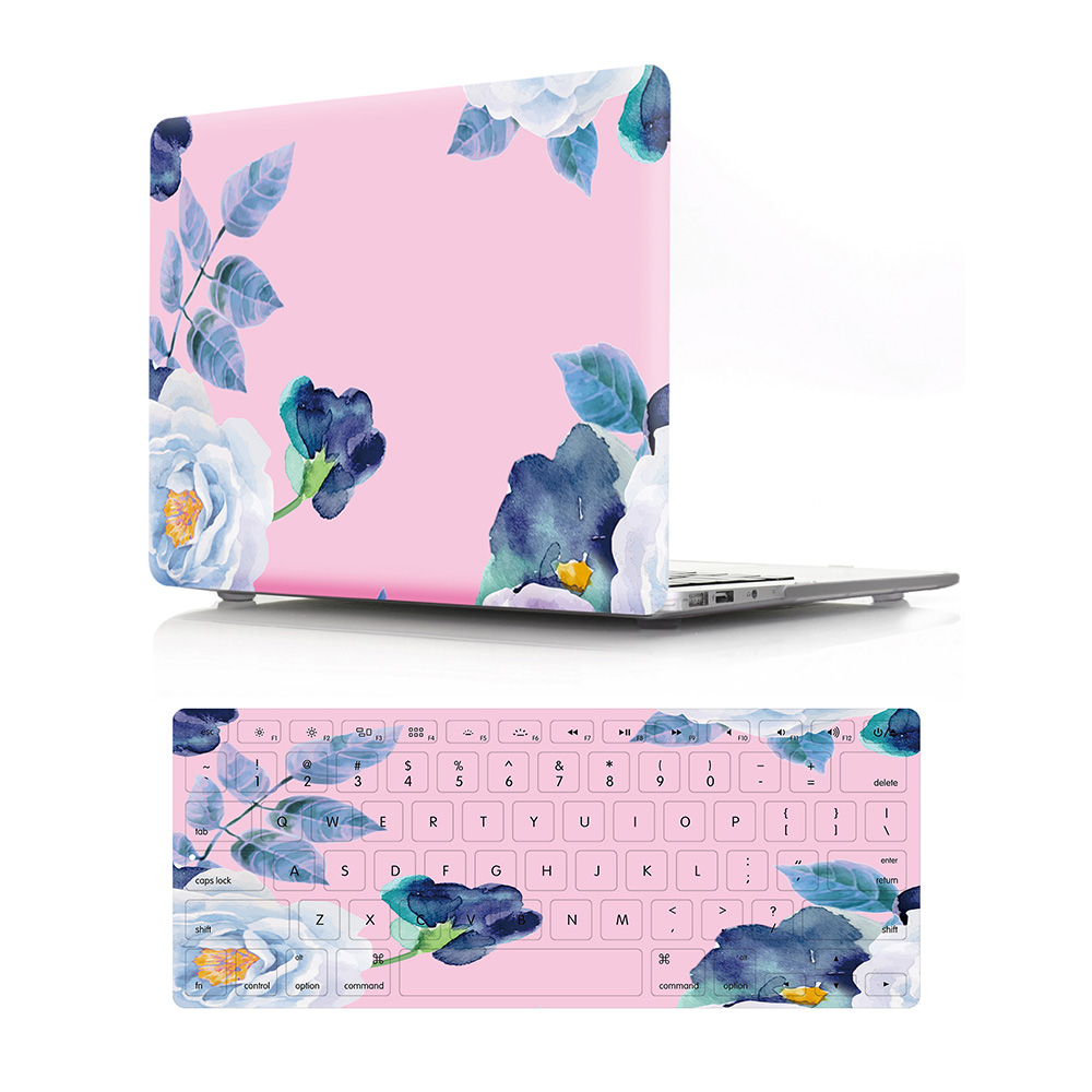 GOOYIYO - 2018 Laptop Hard PC Case Flora Shell Datura Silicone Keyboard Cover For Macbook Air Retina Pro 11 12 13 15