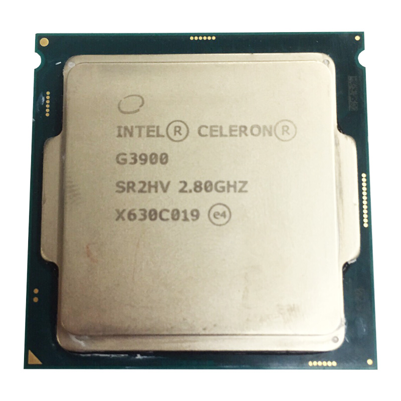 Intel Celeron G3900 Dual Core 2.8GHz TDP 51W LGA 1151 14nm Desktop CPU L3 2MB Cache HD VGA Used Cpu