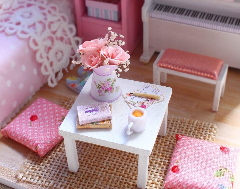 Th diy houten miniatuur poppenhuis handcraft model kits