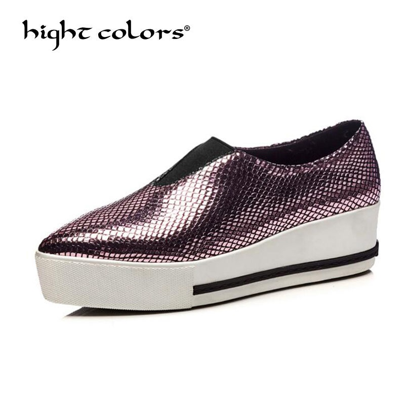 European Station Brand Women Loafers Pointed Flat Shoes Woman Chaussure Autumn Casual Slip on Platform Shoes Ladies Creepers de la chance women flat shoes new autumn slip on student casual shoes solid pu ladies loafers shoes soft nurse shoes white blue