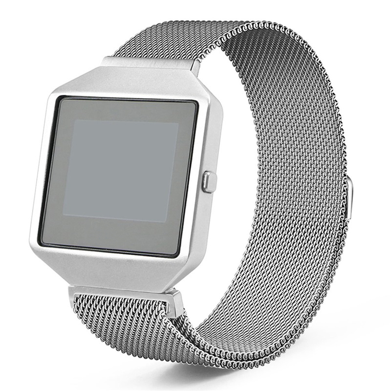 Bemorcabo For Fitbit Blaze Band With New Metal Frame,Milanese Loop Stainless Steel Bracelet Magnet Lock Band For Fitbit Blaze