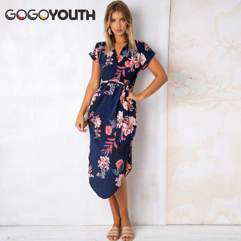 Gogoyouth Long Bohemian Women Summer Dress 2018 Vintage Plus Size Tunic Beach Dress And Sundress Black Party Dress Robe Femme 4