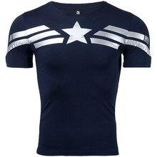 Koszulka na siłownię CAPITAN AMERICA