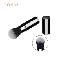 ZOREYA 2017 New Arrival Bright Black Retractable Powder Brush Top Quality Cosmetic Brush For Women Daily