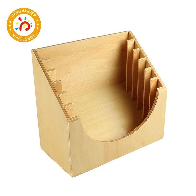 Montessori matériel quotidien enseigner des aides de haute qualité hêtre jouet infantile cadre de dressage Stand pour 6 cadres