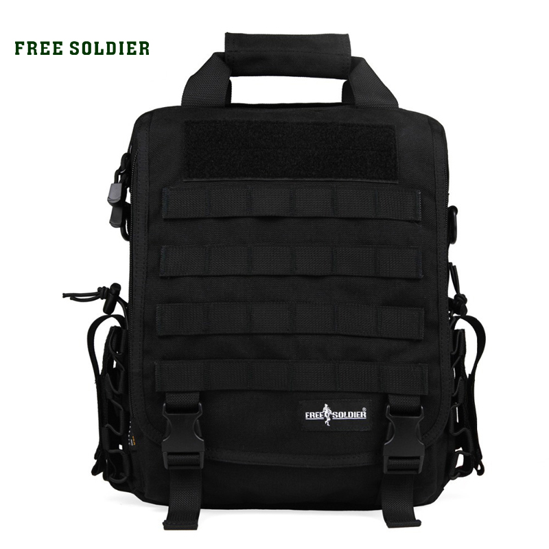 FREE SOLDIER Outdoor Sport Tactical Military Backpack For Men Camping Hiking Travel Backpack 14 Inch Laptop Bag Single Shoulder-in Climbing Bags from Sports & Entertainment    1