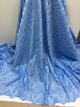 Wholesale!  High Quality Nigerian African Lace Fabric.French Tulle Mesh Fabric 100% cotton swiss lace For Party dress.5yards/lot