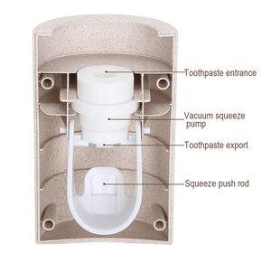 Image 4 - 自動歯磨き粉ディスペンサー浴室付属品プラスチック搾り出しウォールマウント歯磨き粉ホルダーチューブスクイーザ
