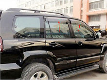 Window Visor Vent Shades Sun Rain Guard For Toyota Prado Fj120 2003-2009